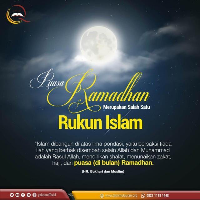 Puasa Ramadhan Merupakan Salah Satu Rukun Islam-Takrimul Quran