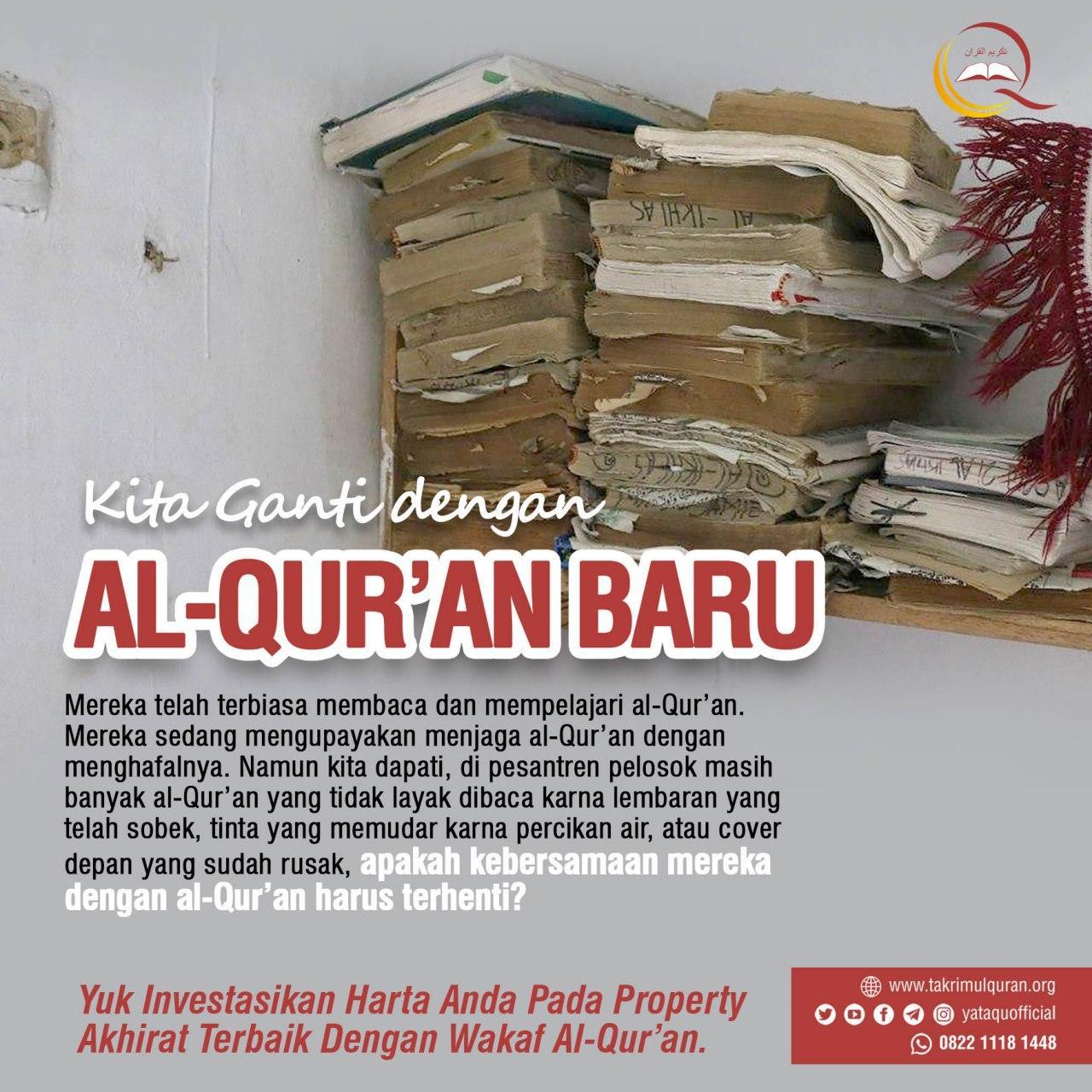 MEREKA BUTUH AL-QUR'AN BARU KARENA YANG ADA SUDAH LUSUH YATAQU